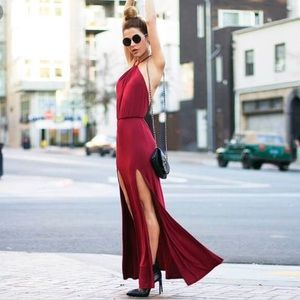 Lovers and friends smokin hot maxi slit dress